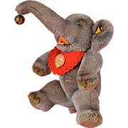 SALE Steiff Mohair Jumbo Elephant - 11 Inches