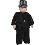 SALE Tiny All Bisque Gentleman with Top Hat