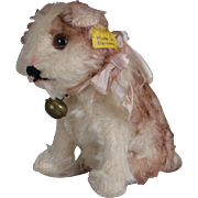 SALE PENDING Steiff Mohair Molly Dog - 3.5 inches