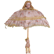 SALE PENDING Unusual German Doll Parasol - 22 Inches