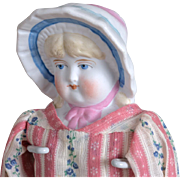 SOLD Hertwig Doll with Molded Bonnet-12 Inches