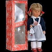 Kathe Kruse Mimerle Child Doll - 19 Inch