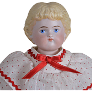 """Highland Mary"" Blonde Parian Doll - 14 Inches"