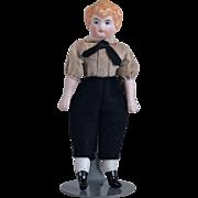 Cute German Dollhouse Boy - 4.5 Inches