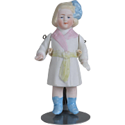 Unusual C.D. Kenny Co. Advertising All Bisque Doll  - 4 inches