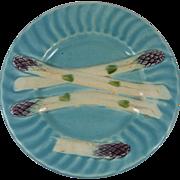 Antique majolica asparagus plate