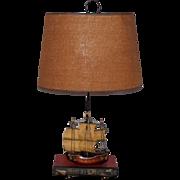SALE LAMP Fantastic Midcentury Holland Sailing Ship and Book