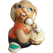 SALE Vintage English Mid Century Rabbit with Drum