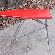 SALE Includes Sunny Suzy Iron Very Cute Vintage Red Metal Children's Play Toy Ironing ...