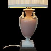 SALE Elegant 1930's Vintage Porcelain Urn Shaped Table Lamp