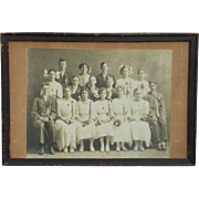 SALE Decorator Turn of Century Photograph 'Study of Graduation Day'