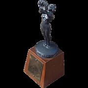 SOLD Beautiful 1920 Art Deco Vintage Figural Women's Swimming Trophy
