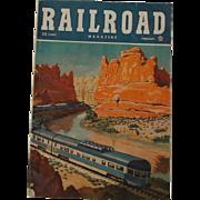 SALE 1948 Vintage RAILROAD Magazine February Volume 45 No. 1