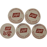 SALE Reduced Shipping! 1972 Vintage Schlitz Beer Coasters 30 Unused plus 10 with spots include