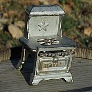 SALE Miniature Toy Royal Cast Iron Dollhouse Child Stove