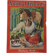 SALE 1939 Animal Friends Picture Book, Merrill Publishing Company,  Illustrations by George ..