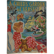 SALE 1939 A Child's Garden of Verses by Robert Louis Stevenson, Merrill Publishing Company ...
