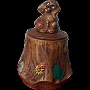 SOLD Adorable Vintage 1960's Puppy Dog Cookie Jar