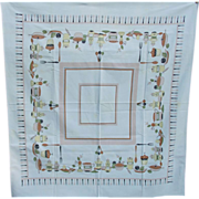 Vintage Kitchen Theme Cotton Tablecloth