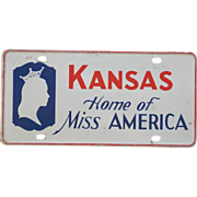 SALE Vintage 1966 or 1968 Home of Miss America License Plate