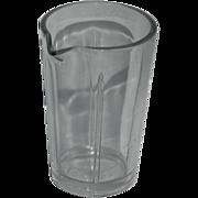 SALE Circa 1934 Vintage Sunbeam Mixmaster Heavy Glass Milk Shake Malt Blender Replacement Cup