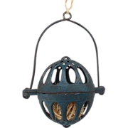 SALE Dark Cottage Blue Cast Iron Hanging String Holder