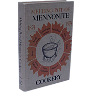 "SALE Mennonite Cookbook ""Melting Pot of Mennonite Cookery"" Vintage"