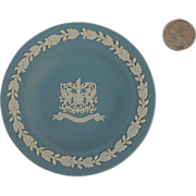 SALE Blue Wedgwood Jasperware Plate City of London Crest