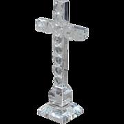 SALE Vintage Sorrell Crystal Cross