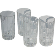 SOLD Tiffany & Co. Brilliant and Clear Set of 4 Atlas Highball Crystal Glasses