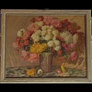 """SALE 11"""" X 9"""" JK Sharp Flower Still Life Lithograph"""