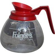 Vintage Folgers Glass Coffee Carafe