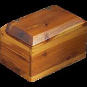 SALE Vintage Cedar Box with Brass Decorative Hinges