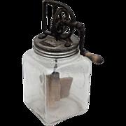 SOLD Daizey Circa 1920 4QT Butter 2 Paddle Churn