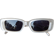 SOLD Italian Made Like New Gucci Off White Pearl Vintage GG 2409/S Sunglasses