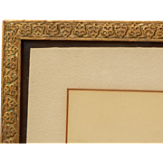 SALE Fabulous Early 20th Century Leaf and Gold Gilt Picture Frame