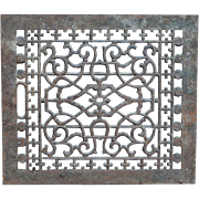 "SALE Free Shipping! Victorian 16"" X 14"" Garden Use Cast Iron Heat Register Grate Arc"