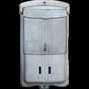 SALE 1930's Art Deco Cast Metal Wall Mount Lockable Mailbox