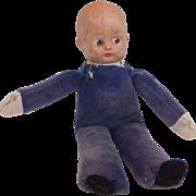 Ou·tré Blue Cloth Display Doll Vintage