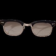 12K.G.F. Shuron Vintage Black Circa 1950 Eyeglasses
