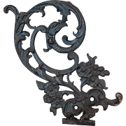 Fabulous Gargoyle Cast Iron Scrolls and Flowers Architectural Salvage Decorative Garden or Wal