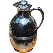 Early Chrome c 1930 Landers Frary & Clark Universal Glass Lined Thermos Carafe with Original .