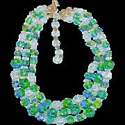 SALE Vintage Hattie Carnegie Three Strand Necklace