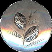 Vintage Stuart Nye Sterling Silver Pine Cone Needle Spray Brooch Pin