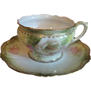 R.S. Prussia Cup and Saucer Set