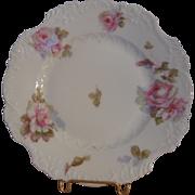 Hermann Ohme Porcelain Rose Plate