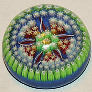 Perthshire Concentric Millefiori Paperweight With Star Shape Center