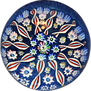 Lovely John Deacons 10 Spoke Millefiori Paperweight