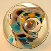 SOLD Glass Eye Studio Abstract Paperweight
