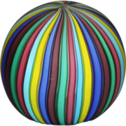 Rainbow Venetian Glass  Paperweight